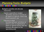 planning tools budgets