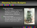 planning tools budgets20