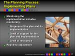the planning process implementing plans