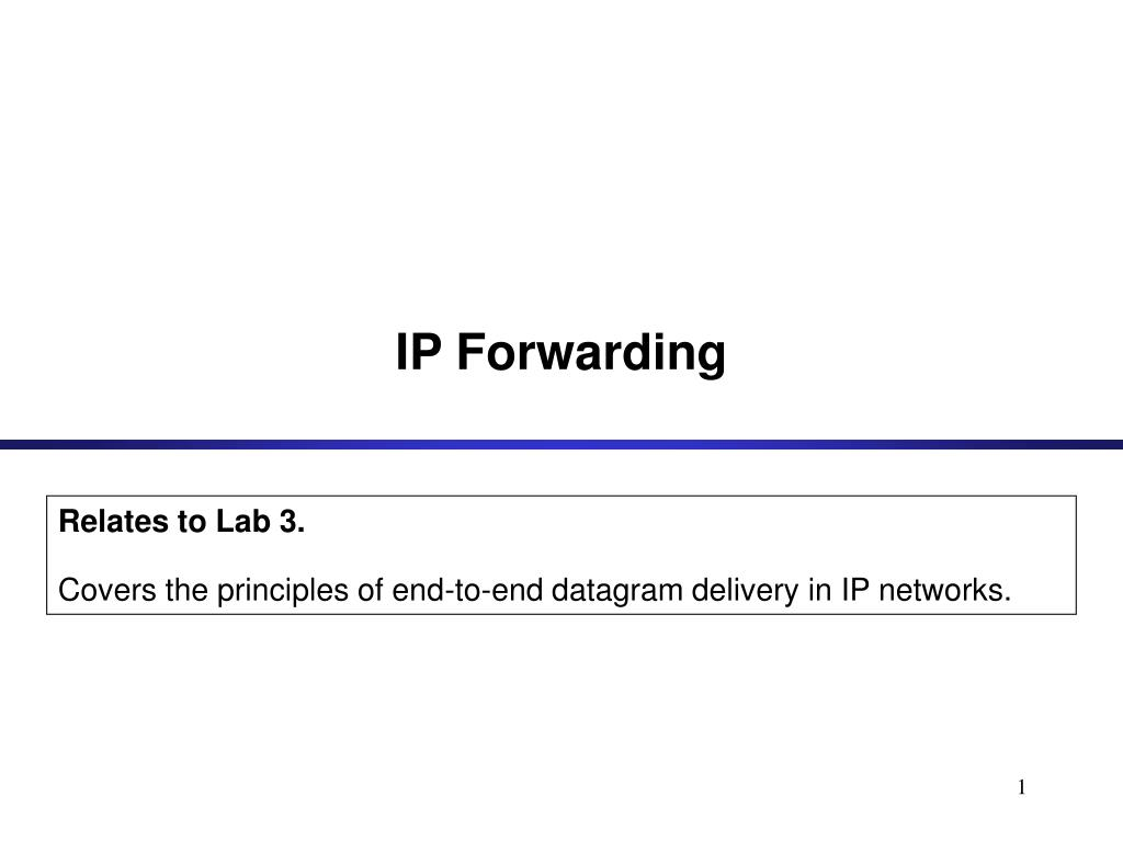 ip forwarding l.