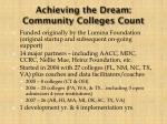 achieving the dream community colleges count