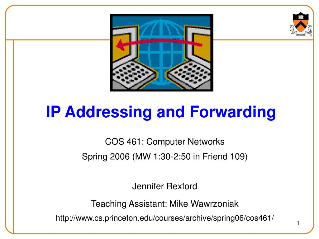 ip addressing and forwarding l.