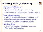 scalability through hierarchy