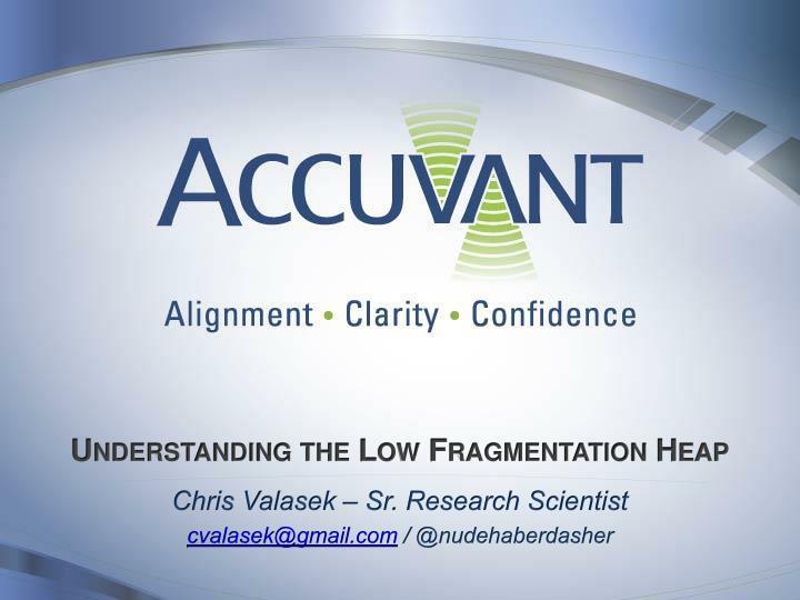 understanding the low fragmentation heap n.