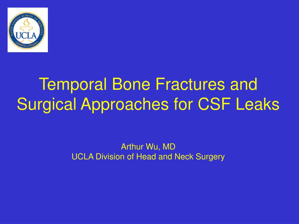 temporal bone fractures and surgical approaches for csf leaks l.