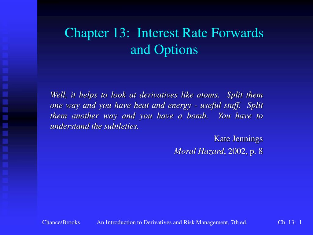chapter 13 interest rate forwards and options l.