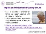impact on function and quality of life