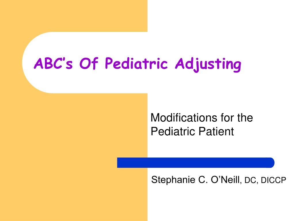 abc s of pediatric adjusting l.