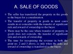 a sale of goods