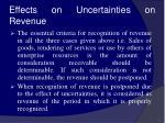 effects on uncertainties on revenue54