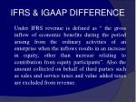 ifrs igaap difference61