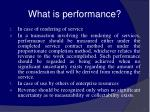 what is performance57