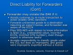 direct liability for forwarders cont