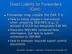 direct liability for forwarders cont14