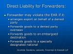 direct liability for forwarders