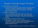 notable forwarder export penalties