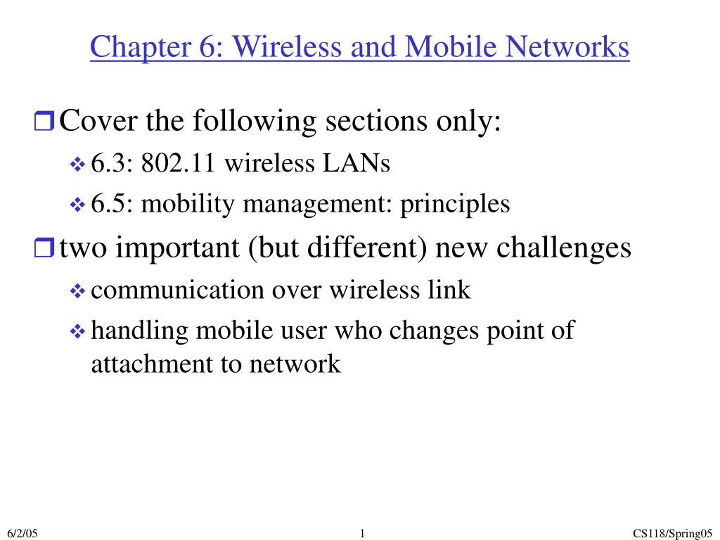chapter 6 wireless and mobile networks l.
