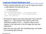 load use hazard detection unit