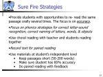 sure fire strategies