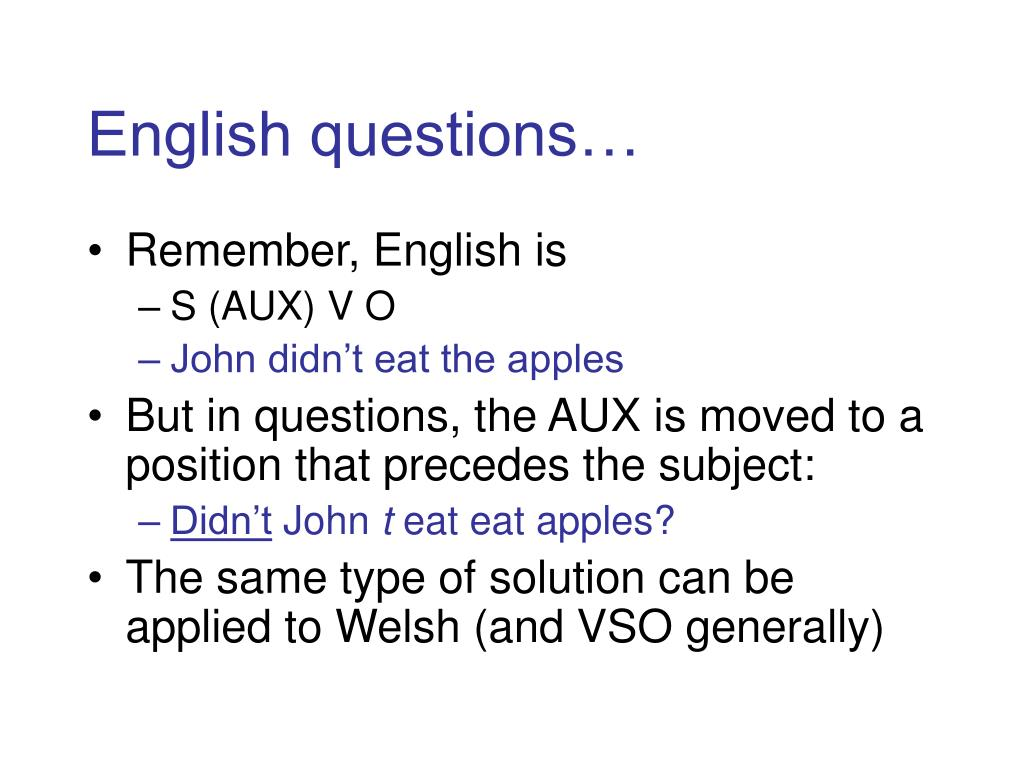 English questions…