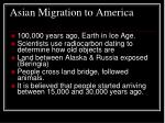 asian migration to america