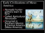 early civilizations of meso america