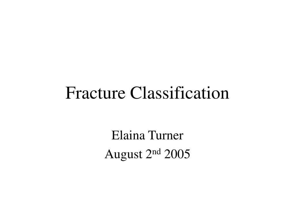 fracture classification l.