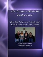 the insiders guide to foster care real life advice for parents and kids in the foster care system