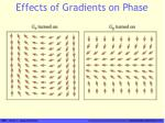 effects of gradients on phase
