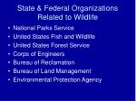 state federal organizations related to wildlife