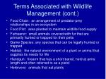 terms associated with wildlife management cont4