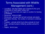 terms associated with wildlife management cont5