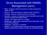terms associated with wildlife management cont6