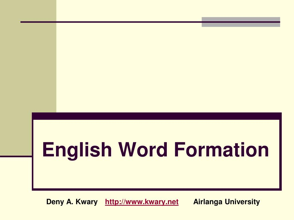english word formation l.