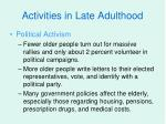 activities in late adulthood18
