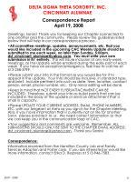 correspondence report april 19 2008