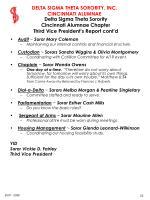 delta sigma theta sorority cincinnati alumnae chapter third vice president s report cont d
