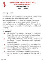 presidents report april 19 2008
