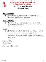 presidents report cont d april 19 2008