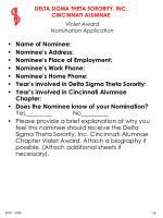 violet award nomination application