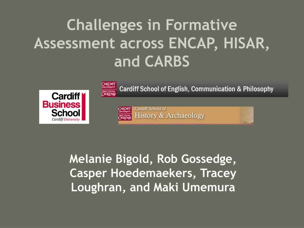 challenges in formative assessment across encap hisar and carbs l.