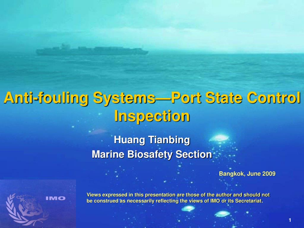anti fouling systems port state control inspection l.