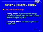 review control system