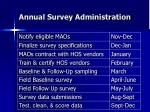 annual survey administration