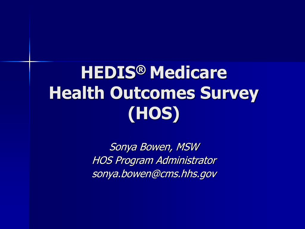 hedis medicare health outcomes survey hos l.