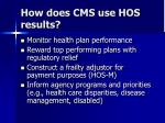 how does cms use hos results