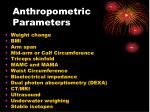 anthropometric parameters