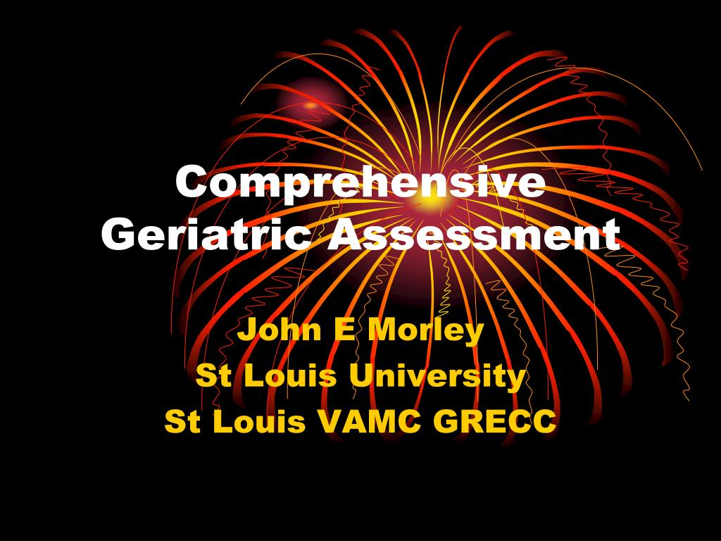 comprehensive geriatric assessment l.