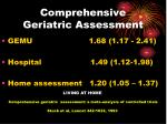 comprehensive geriatric assessment10