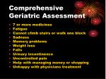 comprehensive geriatric assessment11
